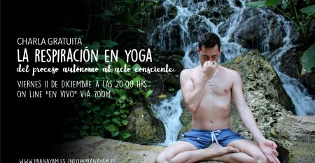 Charla la respiración en yoga