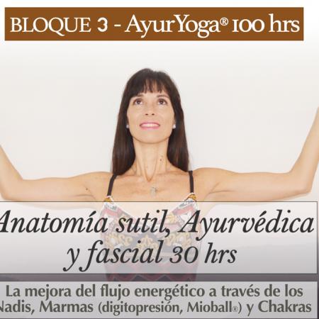 3. Anatomía sutil, Ayurvédica y Fascial 30 hrs