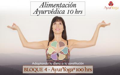 Alimentación Ayurvédica 10 hrs (Bloque 4 – Fm. AyurYoga®)